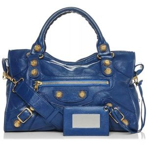 Balenciaga Giant 21 blue leather bag